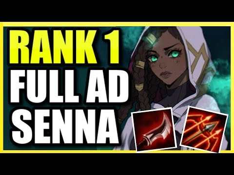(RANK 1 SENNA) THE MOST DAMAGE POSSIBLE!  FULL AD SENNA SUPPORT IS INSANELY POWERFUL! (SENNA GUIDE)