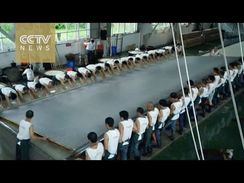 How to produce translucent rice paper in 108 steps