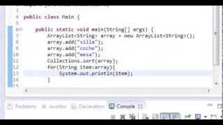 Tutoriales de programación Java - Ordenar ArrayList de strings