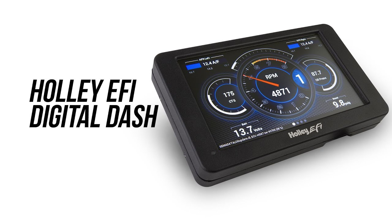 Holley EFI 553-109 Holley EFI Digital Dash 7 in Full Color Touch Screen Multiple Gauge//Indicator Types Limitless Customization Holley EFI Digital Dash