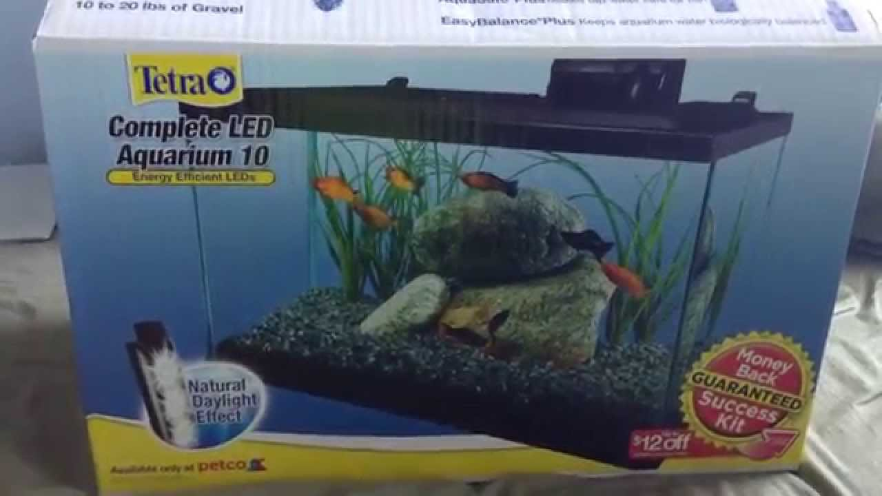 Tetra 10 gallon led fish tank kit unboxing - YouTube