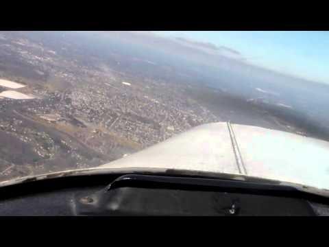 b 727 cockpit view landing rome griffiss (kroe)
