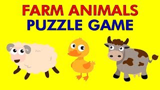 FARM ANIMALS PUZZLE GAME for Toddlers & Kids - Puzzle Apps for Children, Kindergarten