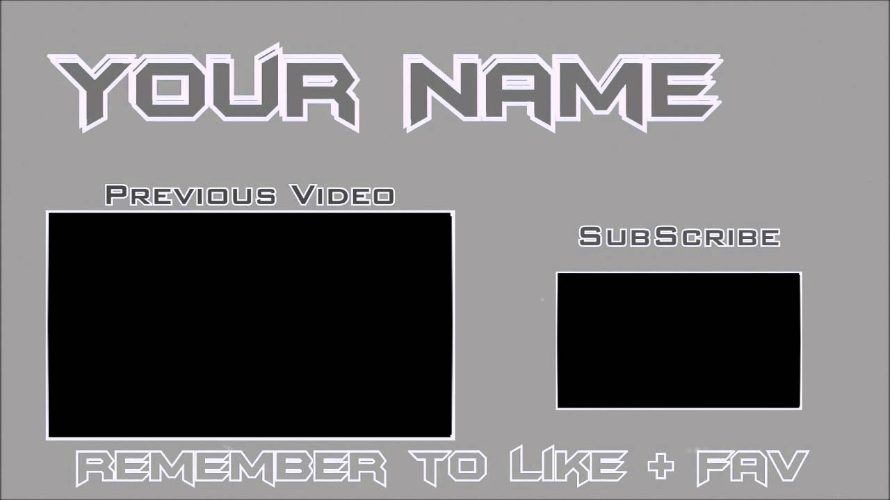 Sony vegas 11 outro template simple grey download for Free outro template
