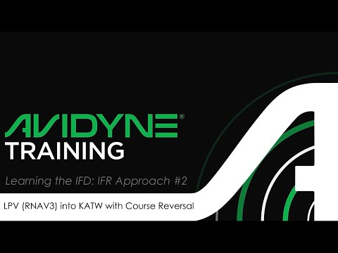 Avidyne IFD Approach #2 - GPS RNAV3 LPV Approach with Course Reversal into KATW