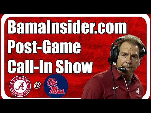 Post Game Call In Show: Alabama 63, Ole Miss 48 Final