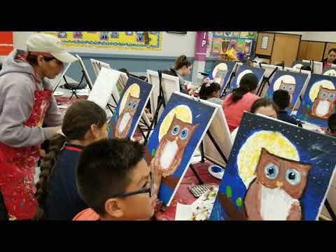 Family Night at Mccord Elementary school in Orange Cove with The Artist In Me