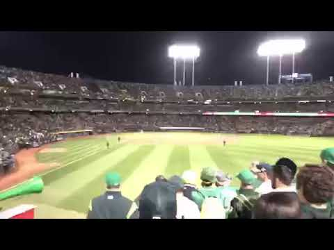 Tampa Bay Rays At Oakland Athletics 2019 MLB AL Wild Card Game At Oakland Coliseum - Final Out