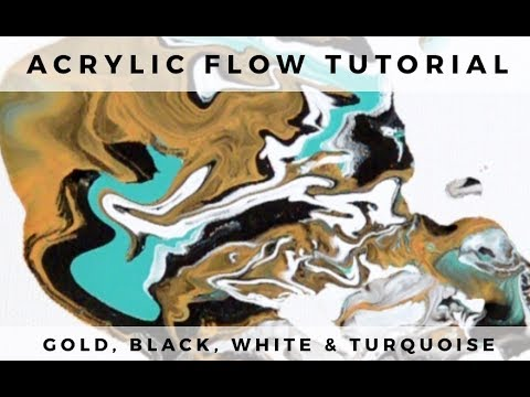 Flow Acrylic Painting: Dirty Pour Experiment With Leftover Paint
