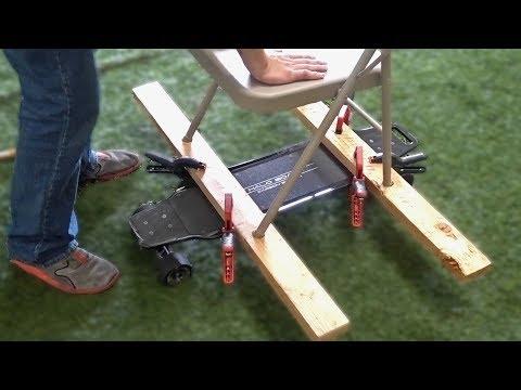 Chair + Electric Skateboard = Fail!!