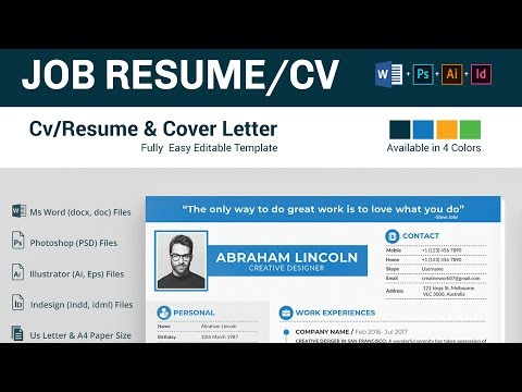 Resume Templates  Free Download In Adobe Photoshop, Illustrator, InDesign, And Ms Word