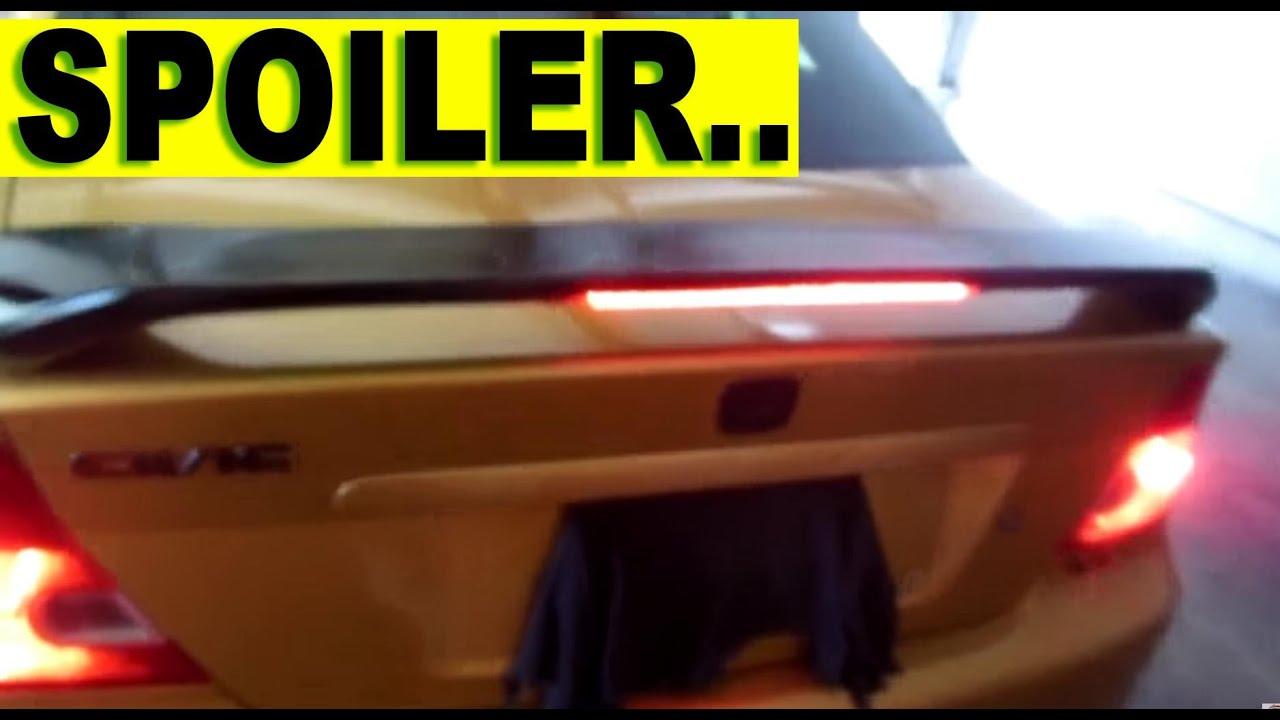 Instalacion De Spoiler Aleron Trasero Youtube