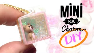 Mini Box Charm- Polymer clay and UV Resin- DIY