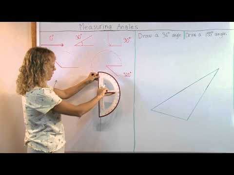 Measuring angles with a protractor - lesson & video