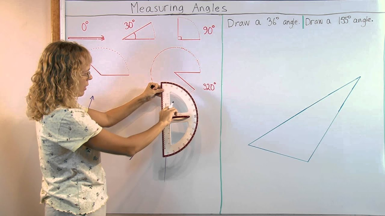 How to use a protractor to measure draw angles youtube nvjuhfo Images