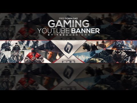 Pro Gaming YouTube Banner Template | FezoDesigns | Free Download