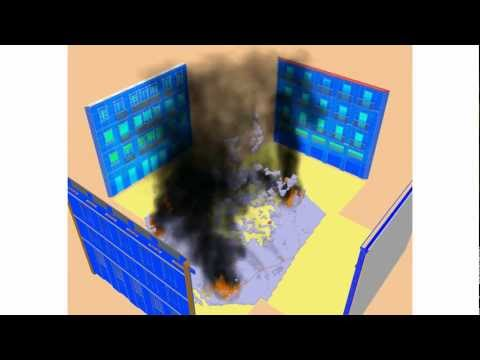 Fire simulation effects with a CFD tool.