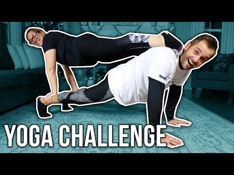 COUPLES YOGA CHALLENGE!! *OUCH! EPIC FAIL!*