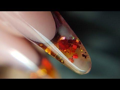 Аквариумный выкладной френч в маникюре/Рисуем подсолнухи на ногтях/Шулунова Дарья