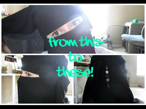 How To : Simple Double-Layer Tie Niqab