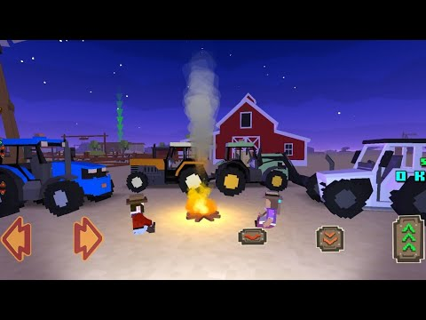 Romantic date in the middle of the night – Blocky Farming And Racing Simulator || Special fire place
