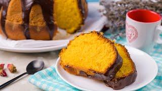 Засыпаешь все в блендер и тесто готово! Бразильский морковный кекс.