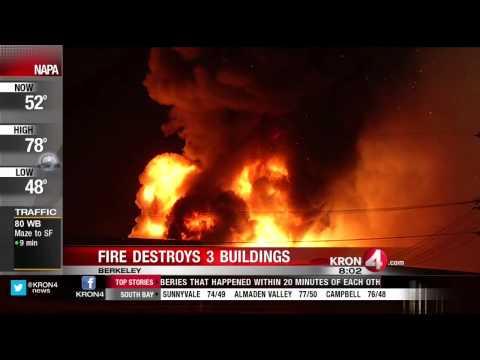 Several Shops Destroyed in 5-Alarm Berkeley Fire