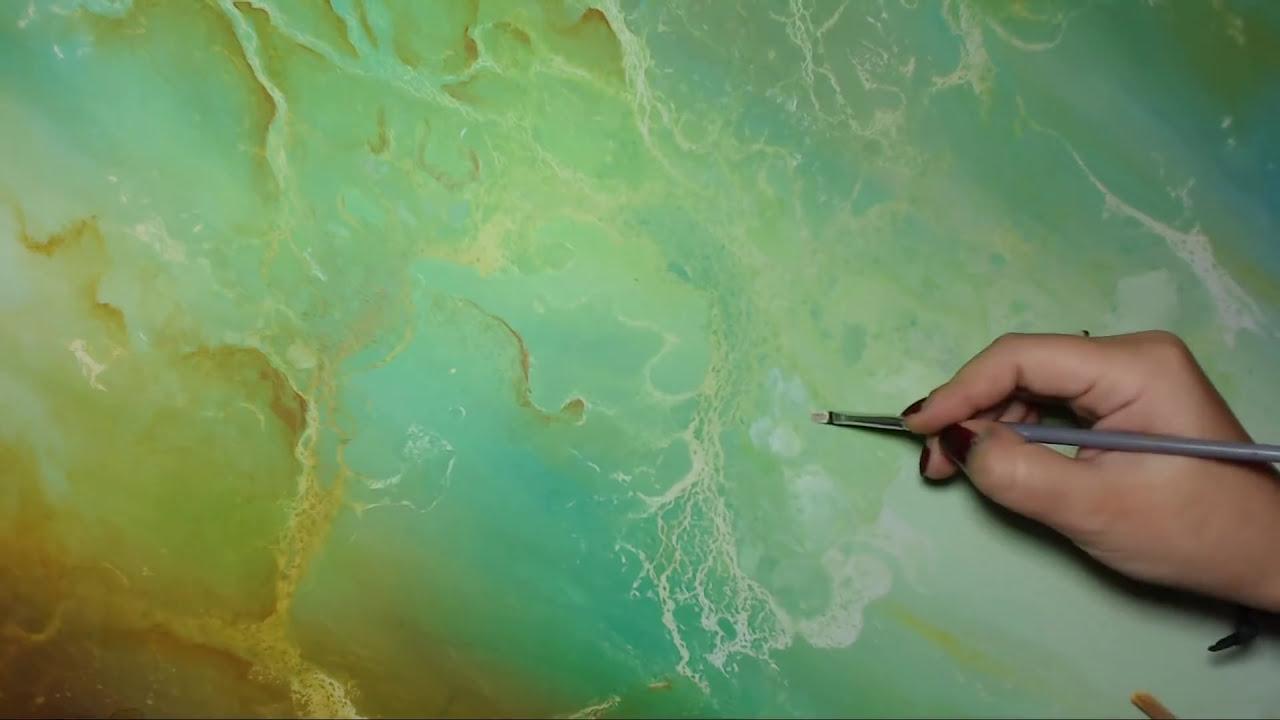 Peinture Acrylique Abstraite Technique De Coulures Imagina