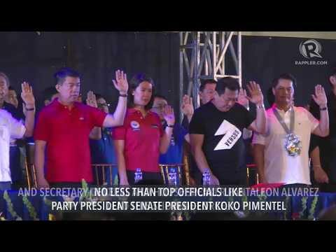 Show of force: 28,000 join PDP-Laban oath-taking in Bulacan