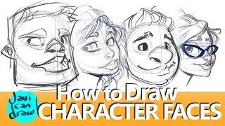 HOW TO DRAW FACES, HAIR, HATS AND GLASSES thumbnail