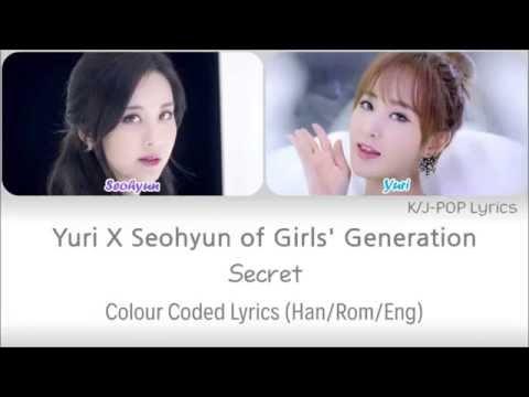 Yuri X Seohyun (유리 X 서현 Of 소녀시대) - Secret Colour Coded Lyrics (Han/Rom/Eng)