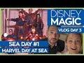 Disney Magic   Marvel Day at Sea   Cruise Vlog Day 3