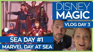 Disney Magic | Marvel Day at Sea | Disney Cruise Line Vlog Day 3