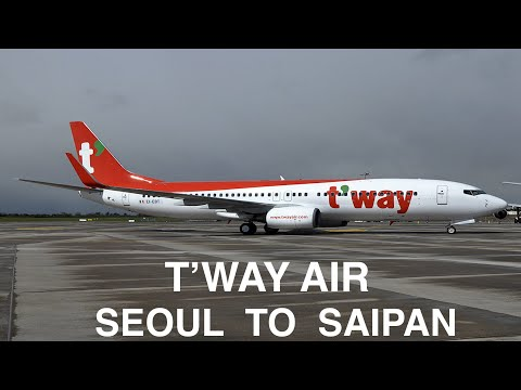 SEOUL TO SAIPAN | T'WAY AIR | B737 | TRIP REPORT