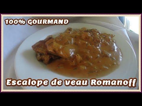 escalope-de-veau-à-la-crème-romanoff