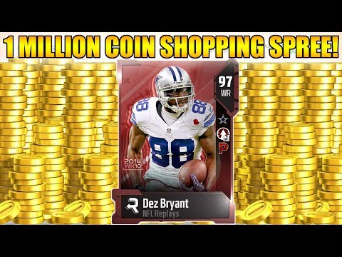 1 MILLION COIN SHOPPING SPREE! 97 OVERALL TEAM! | MADDEN 18 ULTIMATE TEAM