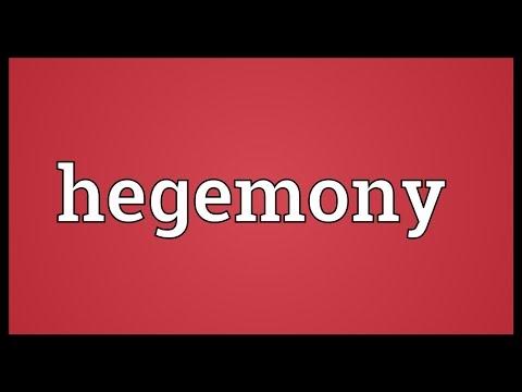 Hegemony Meaning