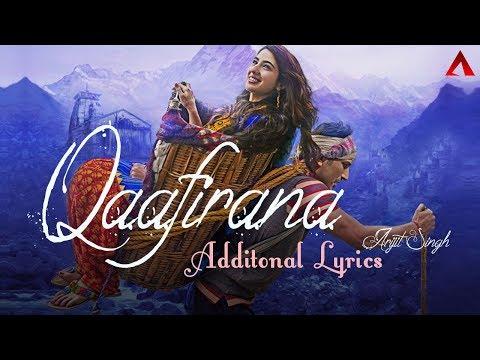 Qaafirana - Additional Lyrics | Arijit Singh | Kedarnath | Sushant Rajput | Sara Ali Khan
