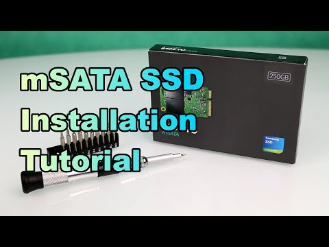 Samsung 840 EVO - How to Install a mSATA SSD in your Notebook - Full Tutorial [HD]