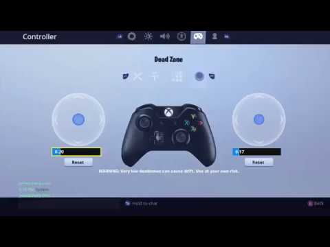 Best Dead Zone Settings Xbox/PS4 - Fortnite Montage #ValueRc