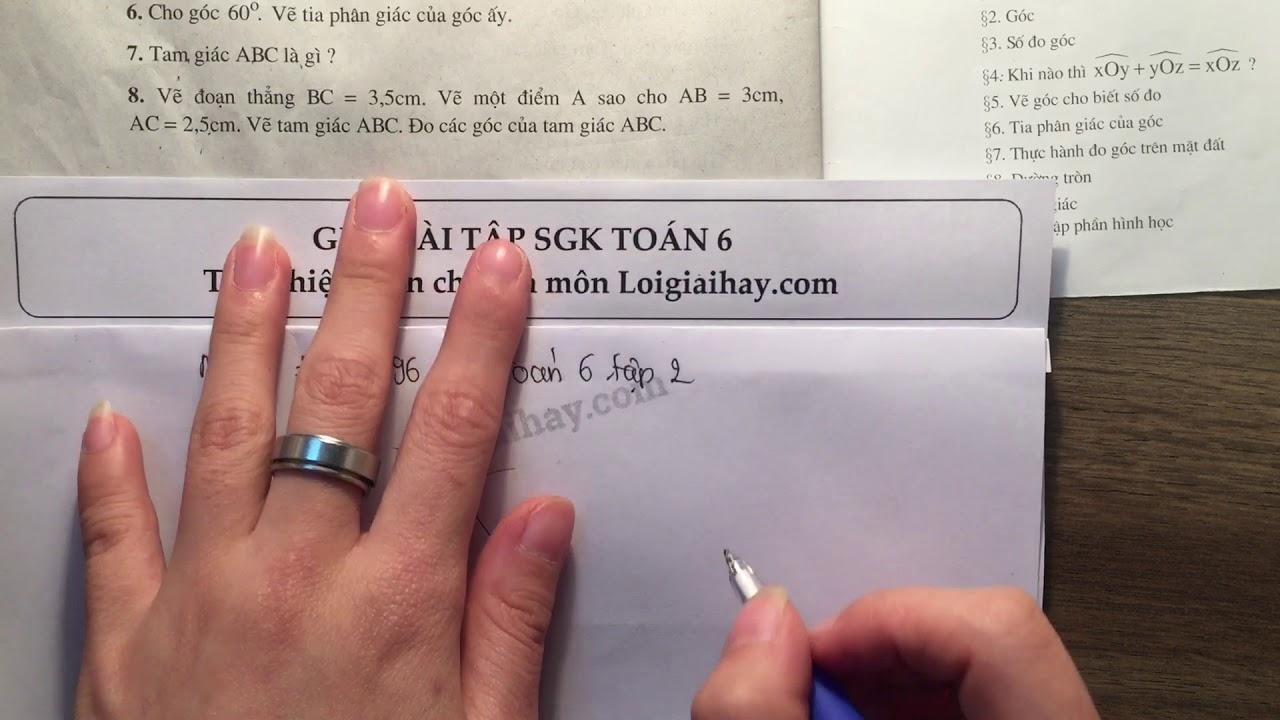 Giải bài 8 trang 96 SGK toán 6 tập 2