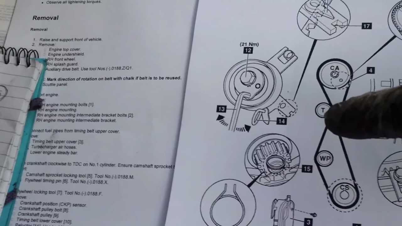 Ford Mondeo 20 Tdci 140bhp Cam And Aux Belt Change 7 20130305 Timing Pulleys Diagram Youtube