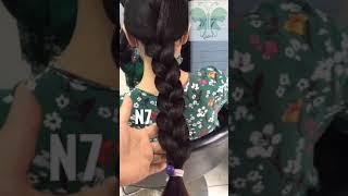 Long and thick hair girl hair play & haircut