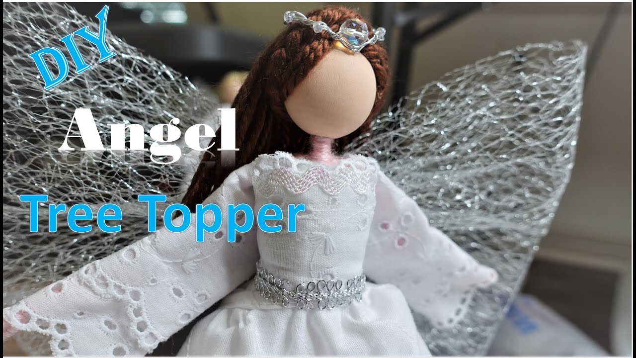 DIY Angel Tree Topper from Paper Mache Cone | Huong Harmon