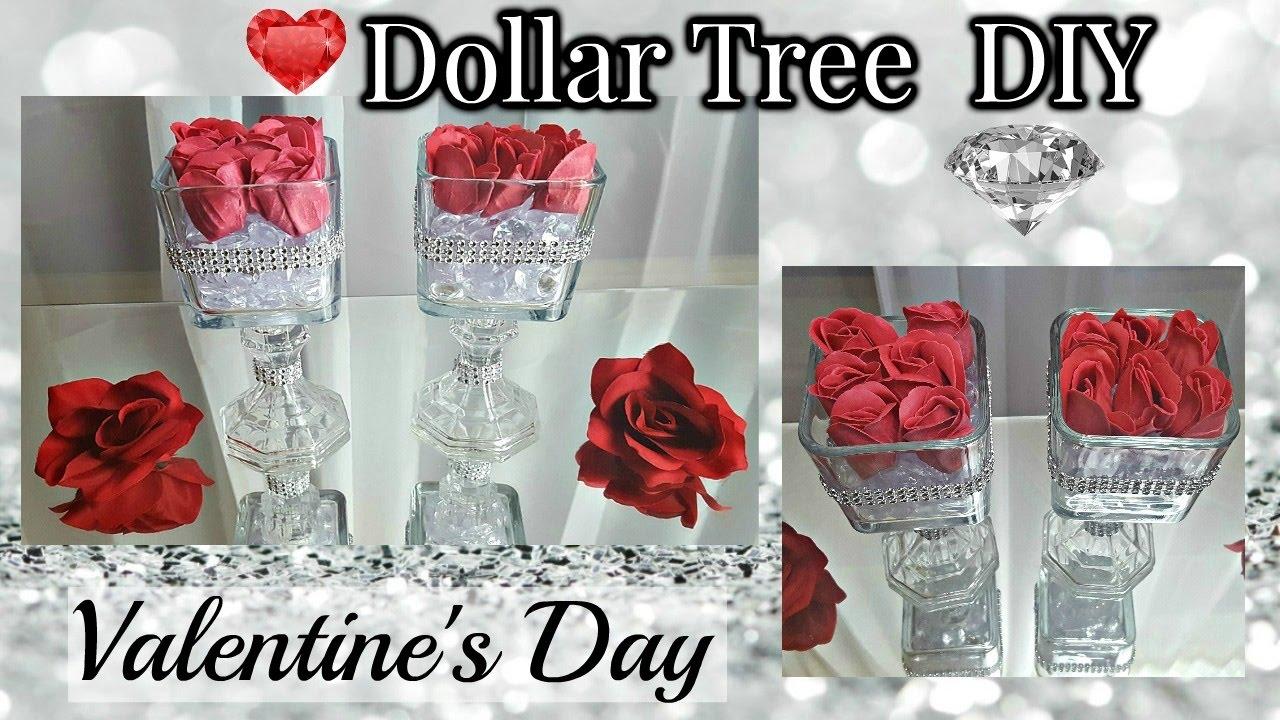 Dollar Tree Diy Valentine S Day 2017 Glam Floral Rose Candlestick