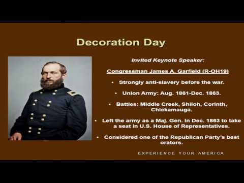 James A. Garfield & the First Decoration Day