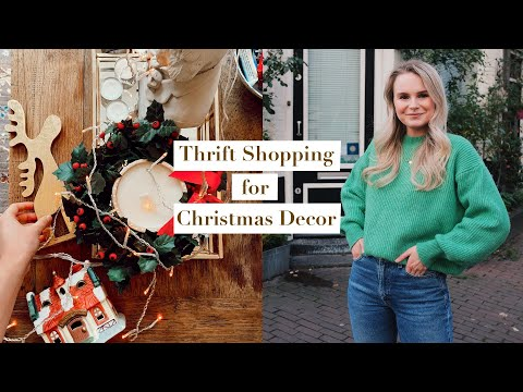 THRIFT SHOPPING, CHRISTMAS DECOR HAUL, MY HAIR + AROUND TOWN | PRIMARK, H&M, ASOS | ANDREACLARE