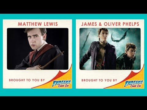 Matthew Lewis and James and Oliver Phelps Panel at Indiana Comic Con