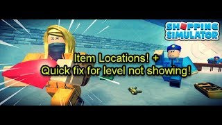 Roblox Shopping Simulator: Item Locations and Level Display Fix!