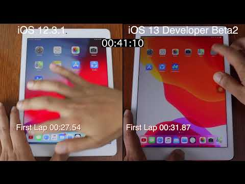 iOS 13 Developer Beta 2 vs iOS 12.3.1 speed test iPad pro | iSuperTech